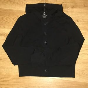 Black button up LOFT sweater